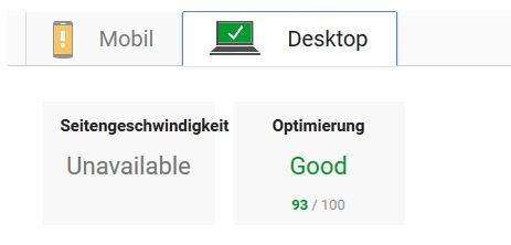 Pagespeed Optimiert