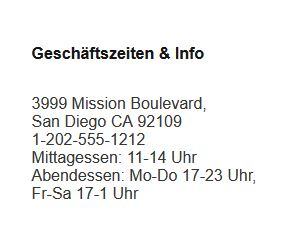 Dresdner Adresse in den USA